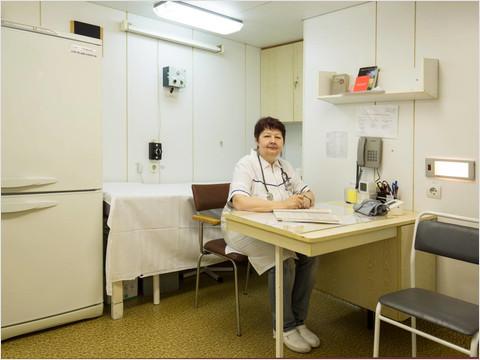Медицинский кабинет теплохода «Георгий Чичерин»