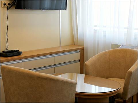 Гостиная комната люкса теплохода «Александр Радищев»
