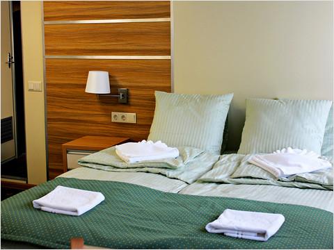 Спальная комната люкса теплохода «Александр Радищев»