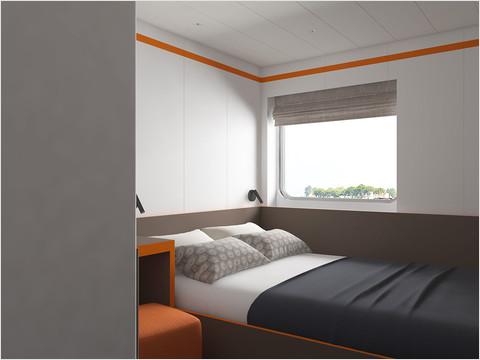 2-местная каюта с двуспальной кроватью тип 2 теплохода «Санкт-Петербург»