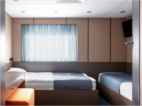 Делюкс с односпальными кроватями теплохода «Санкт-Петербург»