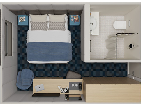 Делюкс с двуспальной кроватью теплохода «Санкт-Петербург»